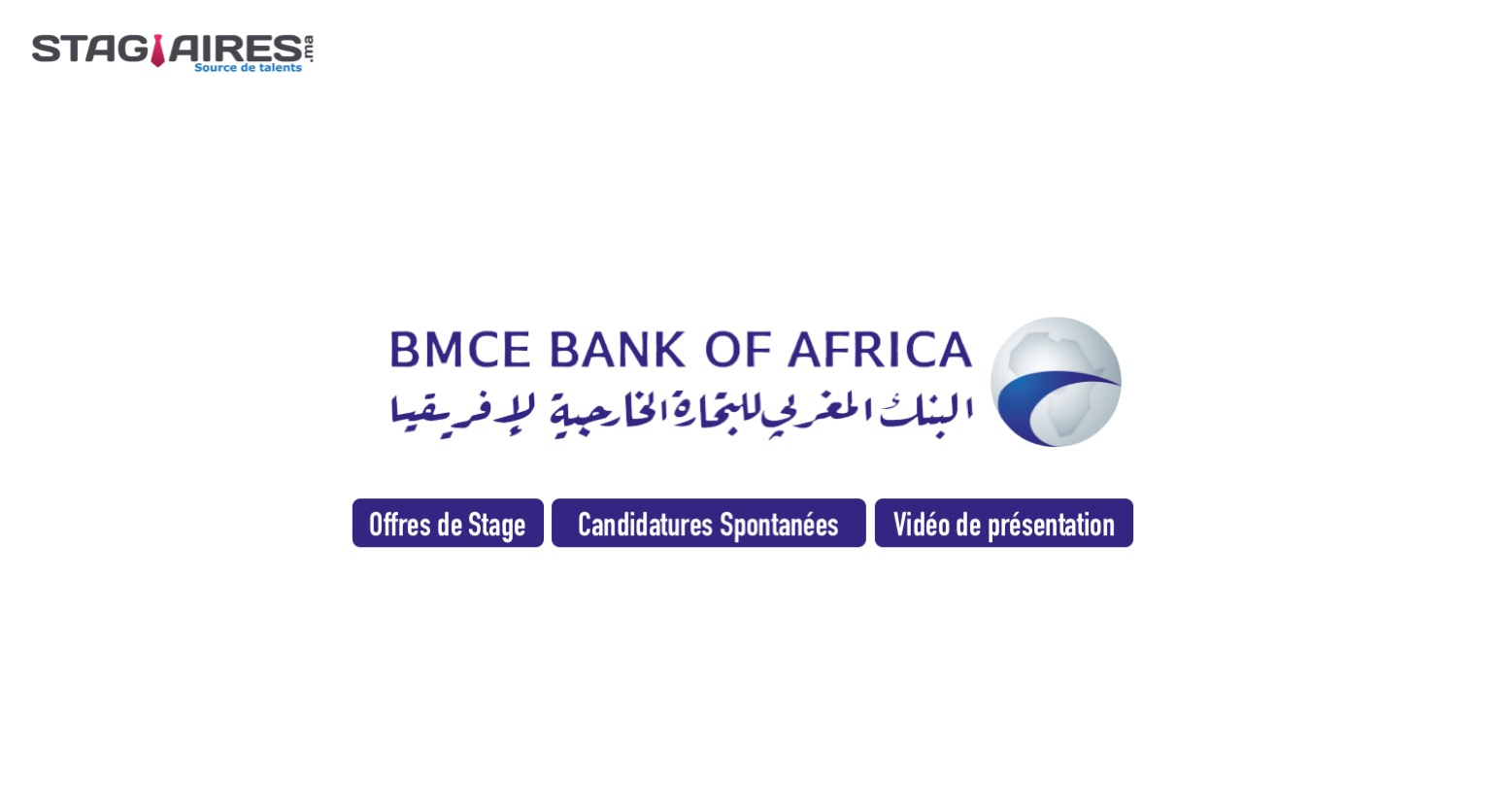 Offres de stage candidatures spontan es bmce bank of africa stagiaires ma
